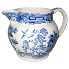 "Wedgwood and Barlaston Etruria Blue Willow 4 1/2""  Pitcher"