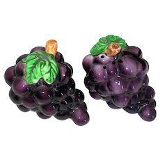 Lefton Grapes Ceramic Salt and Pepper Shakers