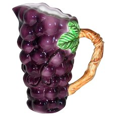 Lefton Grapes Ceramic Pitcher
