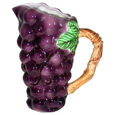 Lefton Grapes Ceramic Pitcher