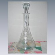 Elegant 1950's Wine Decanter and Stopper
