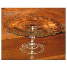 Indiana Glass Teardrop Pattern Pedestal Cake Stand