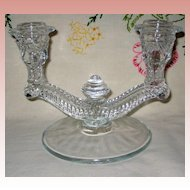 Prescut Glass Candle Holder for Two Candles