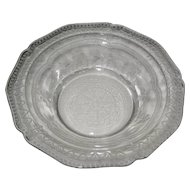 Four Federal Glass Patrician Spoke Clear Sauce or Berry Bowls