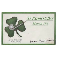 Vintage St.Patrick's Day Postcard - March 17th - Undivided Back 1906