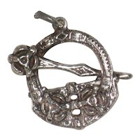 Victorian Celtic Revival Sterling Penannular Charm or Watch Fob