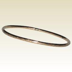 Victorian 10K Rose Gold Bangle Bracelet with Engraved Design - 3.65 grams