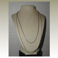 Double Chain Silver-Tone Tiered Necklace