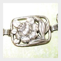 Danecraft Sterling Silver Poppy Panel Bracelet