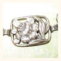 Danecraft Sterling Silver Poppy Panel Bracelet