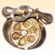 Sterling Silver Old-Fashioned Rotary Dial Telephone Charm