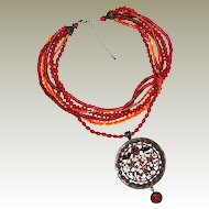 Large Exotic Ethnic Inspired Pendant