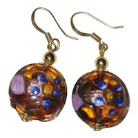 Murano Venetian Art Glass Earrings