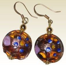 Murano Venetian Art Glass Earrings