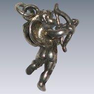Three Dimensional Sterling Silver Cherub or Cupid Charm