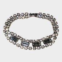 1940's Vintage Silver-tone Rhinestone Bracelet