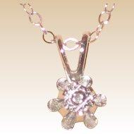 "Petite Dicini 0.23 Carat Diamond Pendant with 14K White Gold Setting and 16"" Chain - Original Box"