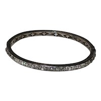 "Art Deco Diamonbar ""Lady Gloria"" Bracelet - Sterling with Brilliants"