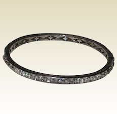 "Art Deco Diamonbar ""Lady Gloria"" Bracelet - Sterling with Brilliants"