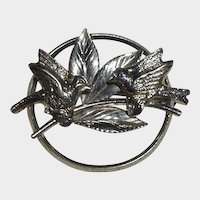Vintage 1940's Carl Art Sterling Pin with Birds