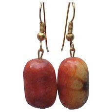 Sponge Coral Earrings in Sunset Colors