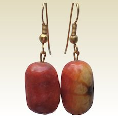Sponge Coral Earrings in Sunset Colors