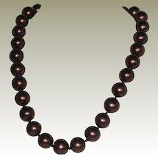 Kissaka Simulated Pearl Necklace