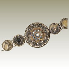 Beautiful Bracelet Made from Antique Victorian Buttons