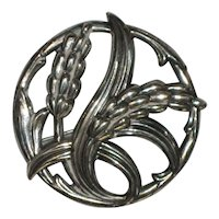 1950's Danecraft Sterling Silver Wheat Brooch