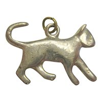 Silver-Tone Cat or Kitten Charm