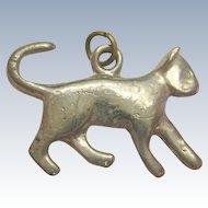 Silver-Tone Cat or Kitten Charm