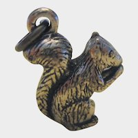 Three Dimensional Sterling Silver Squirrel Charm