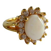 Imitation Opal Ring - Size 8