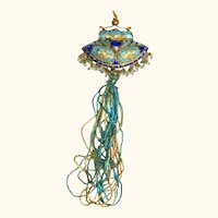 Peacock Blue Lakh or Lac Ornament from Jaipur India