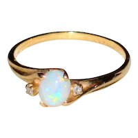Imiation Opal Ring - Size 8