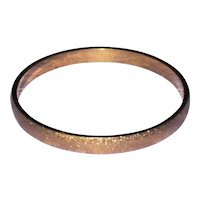 Monet Textured Gold Tone Bangle Bracelet