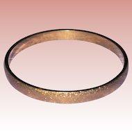 Monet Textured Gold Tone Bangle Bracelet