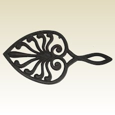 Wilton Cast Iron Trivet or Flat Iron Rest - Heart or Spade Design