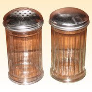 Mid Century Diner Style - Sugar Dispenser and Parmesan Shaker