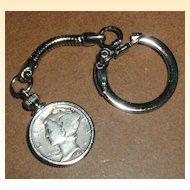 1936 Mercury Dime Coin Keychain