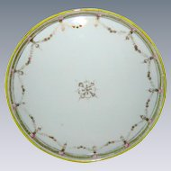 Hand Painted Nippon Japan Porcelain Plate or Tray  with Rose Garland Border