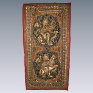 Embroidered and Sequined Thai Wall Hanging, Mid 1900's