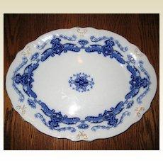 """Upper Hanley """"Elgar"""" Flow Blue Semi-Porcelain Platter"""