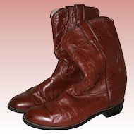 Justin Tan Leather Cowboy Boots - Women's 7 1/2B