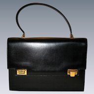 Classic Black Glove Leather Handbag