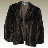 Luscious Dark Brown Mink Jacket - Excellent Condition