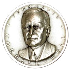 Medallic Arts Silver Statehood Medal - Cordell Hull of Tennessee