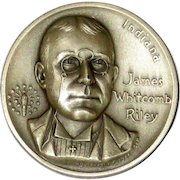 Medallic Arts Silver Statehood Medal - James Whitcomb Riley of Indiana