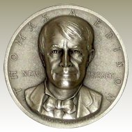 Medallic Arts Silver Statehood Medal - Thomas Edison or New Jersey
