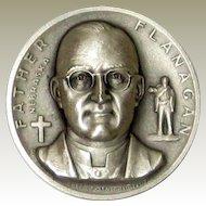 Medallic Arts Silver Statehood Medal - Father Flanagan of Nebraska
